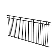 Protector Aluminium 2450 X 1200mm Double Top Rail 2 Up 2 Down Ulti M8 Fence Panel Satin Black