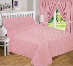 curtains silver rose gold bedding set