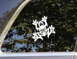Frog Vinyl Decal Sticker Accessory For Automotive Car Etsy Vinyl Decals Vinyl Window Decals Vinyl Decal Stickers