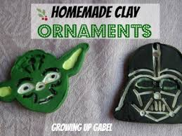 homemade clay ornaments star