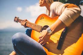 Bezplatný obrázek: Žena, klasická kytara, akustická kytara ...