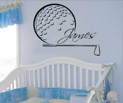 Wall Decal Golfer Custom Personalized Name Vinyl Sticker Teens Golf Player Kids Living Room Bedroom Home Decor Wallpaper Ww 159 Decor Wallpaper Name Wall Decalswall Decals Aliexpress