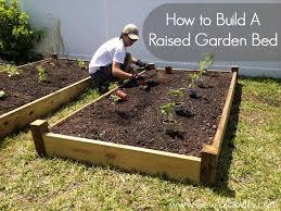 how do you make a raised garden bed