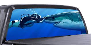 Rear Window Truck Graphics Decal Suv View Thru Vinyl Vuscape Shark 01 Lee890 Itrainkids Com
