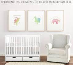 nursery wall art print set of three