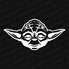 Yoda Head Vinyl Decal The Stickermart
