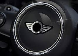Amazon Com Car Interior Decal Trim Car Steering Wheel Sign Logo Crystal Rhinestone Rings Sticker For Mini Cooper Countryman One F54 F55 F56 F60 R55 R56 R60 R61 Women Car Accessories Silver Outer