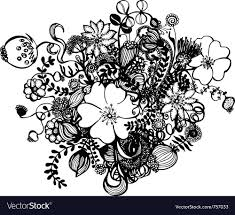 white flowers royalty free vector image