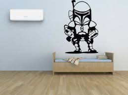Wall Room Vinyl Sticker Mural Decal Star Wars Boba Fett Logo Film Nursery O65 751778745333 Ebay