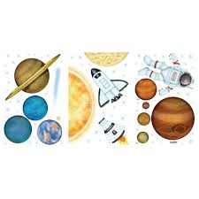 Unbranded 14 In X 11 In In Outer Space Super Jumbo Wall Decal 02593 The Home Depot