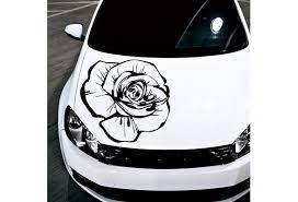 Car Decals Hood Decal Vinyl Sticker Rose Flower Floral Auto Decor Graphics Os160 Wish