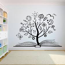 Book Tree Wall Decal Creative Books Reading Room Library Classroom Vinyl Stickers Bookstore Decoration Motivation Mural Wall Decal Cheap Wall Decal Deals From Joystickers 12 66 Dhgate Com