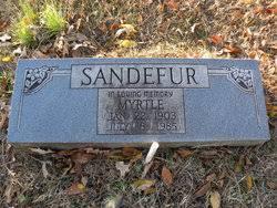 Myrtle Gray Sandefur (1903-1985) - Find A Grave Memorial