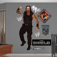 Roman Reigns Wwe Wrestling Roman Reigns Wall Decals For Bedroom Wwe Roman Reigns