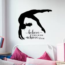 Gymnastics Wall Decals Inspirational Quotes For Girls Vinyl Written