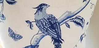 laura ashley blue birds cushion pattern