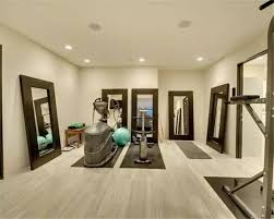 home gym design mirror wall