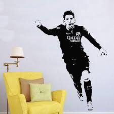 Amazon Com Andre Shop Lionel Messi Barcelona Football Player Wall Decal Lionel Messi Decals Argentina Soccer Sport Athlete Wall Sticker Vinyl Art Boy Room Decor Custom Color Home Kitchen