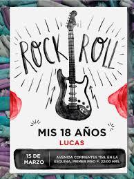 20 Invitacion Cumpleanos 15 Anos Rock N Roll 480 00 En Mercado