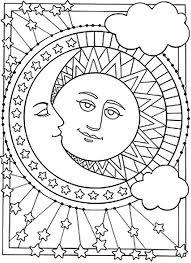 Kleurplaten Voor Volwassenen Sterren Zon Maan