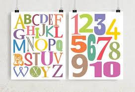 Printable Alphabet Numbers Art For Toddler Girl Bedroom Wall Decor Kids Room Homes Wall Decor Bedroom Girls Decorating Toddler Girls Room Toddler Bedroom Girl
