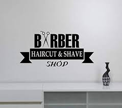 Amazon Com Barbershop Window Sign Vinyl Decal Removable Wall Sticker Barber Hair Haircut Hairdressing Salon Decorations Art Decor Bsh8 Arts Crafts Sewing