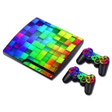 Vinyl Decal Ps3 Slim Console Skin Ps3 Controller Stickers Colorful Wish