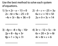 solving systems of equations worksheets