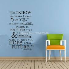 Jeremiah 29 11 Scripture Wall Art Words Wall Stickers Family Decals Quote Lettering Mural Vinyl Wall Decorations Living Room Decoration Living Room Wall Decorations Living Roomwall Sticker Family Aliexpress