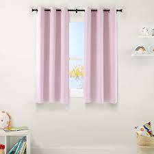 Amazon Com Amazonbasics Kids Room Darkening Blackout Window Curtain Set With Grommets 42 X 63 Light Pink Home Kitchen