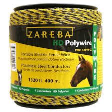 Zareba Poly Wire 1 320 Ft 9 Conductors Model Pw1320y9 Z