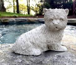 concrete westie dog statue concrete