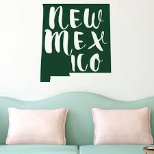 New Mexico Wall Decal State Silhouette Vinyl Art For Home Etsy