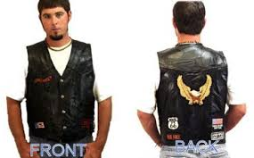 Biker Leather Vest With Patches Motorcycle Vests Discount Motorcycle Leather Biker Accessories