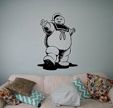 Ghostbusters Stay Puft Vinyl Decal Animated Series Wall Sticker Cartoons Home Interior Removable Wall Stickers Cartoon Kids Room Wall Art Nursery Wall Stickers