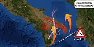 Allerta meteo Puglia e Basilicata: in arrivo scirocco fino a 110 ...