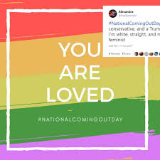 Straight people hijacked the National Coming Out Day hashtag because of  course they did