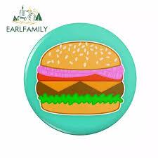Earlfamily 13cm X 12 9cm For Hamburger Car Styling Stickers Waterproof Decal Sunscreen Repair Scratch Proof Cartoon Graphics Car Stickers Aliexpress