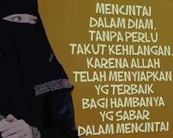 kata mutiara islami cinta dalam diam semua yang kamu mau