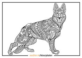 Kleurplaat Hond Download Gratis Honden Kleurplaten Op Eendier Nl