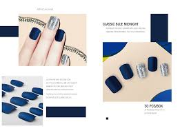 sky matte nail tips