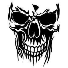 Skull Vinyl Decal Sticker Window Wall Car Bumper Laptop Skeleton Black Jdm
