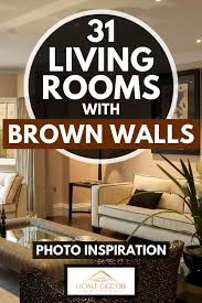 31 living rooms with brown walls photo