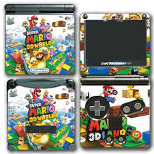 Amazon Com Super Mario 3d World 2 Land Mario Luigi Peach Toad Cat Suit Video Game Vinyl Decal Skin Sticker Cover For Nintendo Gba Sp Gameboy Advance System Video Games
