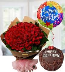 100 red rose birthday set fl