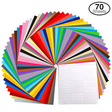 Vinyl Sheets Ohuhu 70 Permanent Adhesive Backed Vinyl Sheets Set 60 Vinyl Sheets 12 X 12 10 Transfer Tape Sheets 30 Color Sheet For Birthday Party Decoration Sticker Craft Cutter Car Decal
