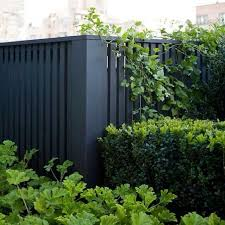 a black fence
