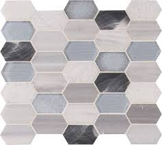 Harlow Picket 8mm Glass Mosaic Tile Kitchen Backsplash Bathroom Walls Shower Wall Accent Wall