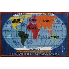 World Map Rug Wayfair