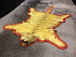 antique taxidermy tiger skin rug c1890
